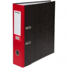 "Папка-регистратор 80 мм мрамор красный кор.,  метал. кант с карманом на корешке Berlingo ""Hyper"""