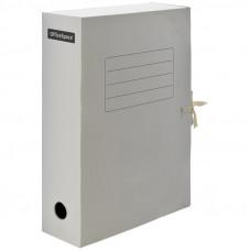 Папка архивная 75мм, белая из микрогофрокартона с завязками OfficeSpace