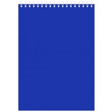 "Блокнот А5 60л. на гребне  ""Синий"", 145х212 мм"