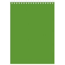 """Блокнот А5 80л. на гребне  """"Зеленый"""", 145х212 мм"""