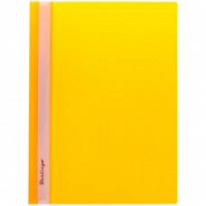 Скоросшиватель пластиковый А4 180мкм желтый с прозр. верхом  Berlingo