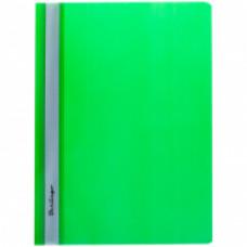 Скоросшиватель пластиковый А4 180мкм зеленый с прозр. верхом   Berlingo