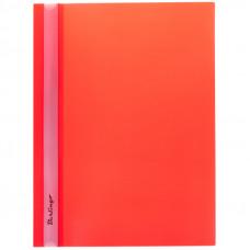 Скоросшиватель пластиковый А4 180мкм красный с прозр. верхом Berlingo