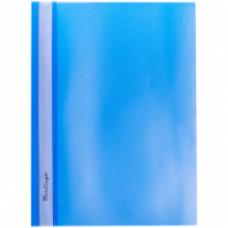 Скоросшиватель пластиковый А4 180мкм синий с прозр. верхом Berlingo