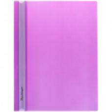 Скоросшиватель пластиковый А4 180мкм фиолетовый с прозр. верхом Berlingo