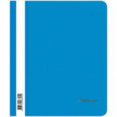 Скоросшиватель пластиковый А5 180мкм синий с прозр. верхом Berlingo