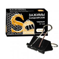 Зажимы д/бумаг 51 мм, 12шт/уп черные Sponsor