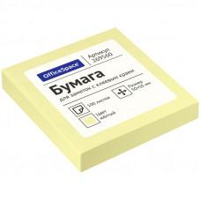 Самоклеящийся блок 50х50 мм 100 л. желтый OfficeSpace