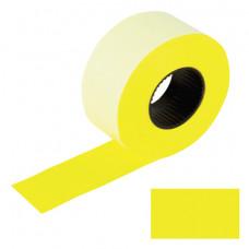 Этикет-лента 26х16 мм, BRAUBERG, комплект 5 рулонов по 800 шт., прямоугольные, желтые, 128458