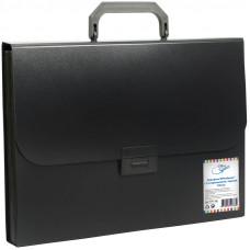 Папка-портфель 13 отделений OfficeSpace®, 700мкм, черный
