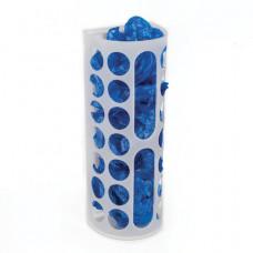 Диспенсер для бахил и пакетов пластиковый, настенный, белый, самоклеящийся, 45х16х13 см
