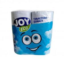 Туалетная бумага 2-х сл. 4шт/уп белая JOY Land Эко