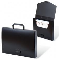 """Портфель пластиковый ,  без отделений, черн , А4, 256х330 мм,  BRAUBERG """"Energy"""""""