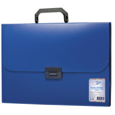 Папка-портфель 1 отделение, 700мкм, синий OfficeSpace