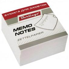 "Блок для записей 90х90х45 мм белый непроклеенный Berlingo ""Standard"""