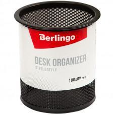 "Подставка-стакан Berlingo ""Steel&Style"", металлическая, круглая, черная"