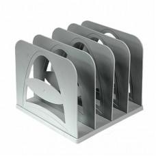 Лоток-сортер вертикальный Erich Krause, 3 отделения, серый