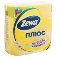 Туалетная бумага 2-х сл. 4шт/уп желтая ZEWA Plus