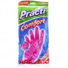 """Перчатки р М хоз. резиновые Paclan """"Practi.Comfort"""" розовые"""
