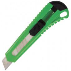 Нож 18 мм канцелярский BRAUBERG, фиксатор, корпус ассорти,