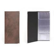 Визитница настольная Koh-I-Noor Gama искусственная кожа на 112 визиток черная