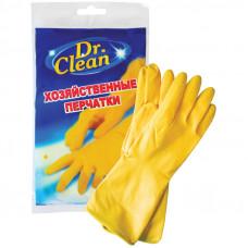 Перчатки р.L хоз. резиновые  Dr. Clean хозяйственные без х/б напыления