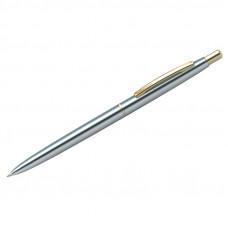 """Ручка шариковая Berlingo """"Golden Prestige"""" синяя, 0,7мм, корпус хром/золото, кнопочн, пластик.футляр"""