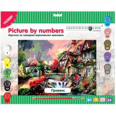 "Картина по номерам А3 ""Прованс"" с акриловыми красками"