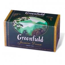 """Чай GREENFIELD (Гринфилд) """"Jasmine Dream"""" (Жасминовый сон), зеленый с жасмином, 25 пакетиков в конве"""