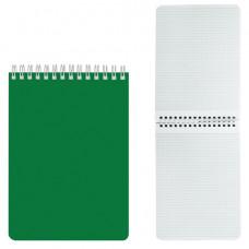 """Блокнот А5 60л. на гребне лакированная обложка, HATBER, """"Зелёный"""", 145х212 мм"""