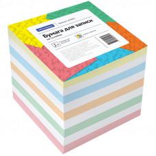 Блок для записей 90х90х90 мм цветной проклеенный OfficeSpace