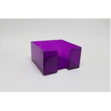 """Подставка для бумажного блока 9х9х5 см тонированная """"Слива"""" СТАММ"""