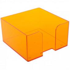 """Подставка для бумажного блока 9х9х5 см тонированная """"Манго"""" СТАММ"""
