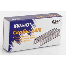 Скобы №24/6 для степлера  KW-trio 1000 шт.