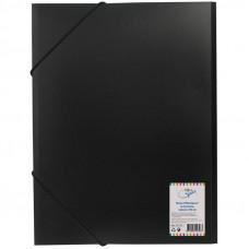 Папка на резинке  А4, 500мкм, черная  OfficeSpace
