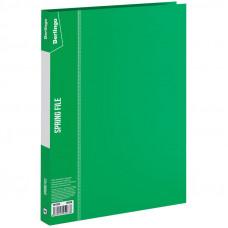 """Папка с пруж. скоросшивателем 17мм 700мкм зеленая с карманом Berlingo """"Standard"""""""