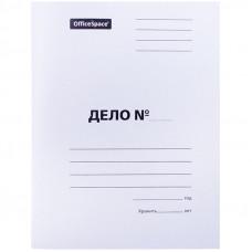 Скоросшиватель Дело 220 г/м2 картон белый, пробитый, OfficeSpace