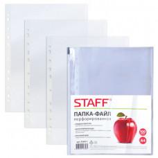 Файл-вкладыш А4 30 мкм гладкие ком ( 100шт) STAFF