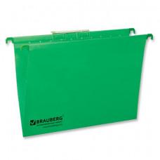 Подвесные папки А4 (350х245 мм), до 80 листов, КОМПЛЕКТ 10 шт., зеленые, картон, BRAUBERG (Италия)