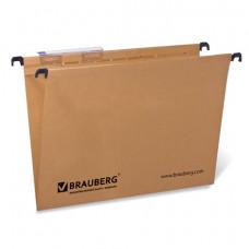 Подвесные папки А4 (350х245 мм), до 80 листов, КОМПЛЕКТ 10 шт., картон, BRAUBERG (Италия)