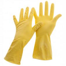 Перчатки р.XL хоз. резиновые OfficeClean Стандарт+,супер прочные,желтые,пакет с европодвесом