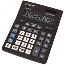 Калькулятор настольный 16 разр., Citizen Business Line CDB,  двойное питание, 157*200*35мм, черный