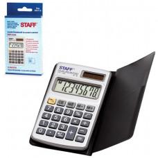 Калькулятор карманный 08 разр. STAFF металлический STF-1008, , двойное питание, 103х62мм