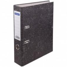 Папка-регистратор 70 мм мрамор черная OfficeSpace бюджет