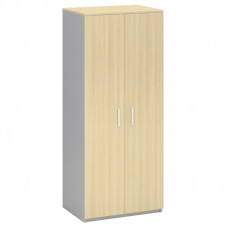 Шкаф для одежды двухдверный с горизонтальной штангой МФ Виско Импакт/Береза-Серый, 820*580*2030