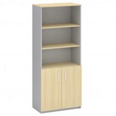 Шкаф для документов полузакрытый МФ Виско Импакт/Береза-Серый, 820*430*2030