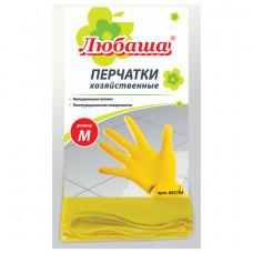 Перчатки р М хоз. латексные  ЛЮБАША, с х/б напылением, рифленая ладонь