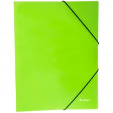 """Папка на резинке  А4, 500 мкм, неоновая зеленая  Berlingo """"Neon"""""""