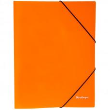 """Папка на резинке  А4, 500 мкм, неоновая оранжевая Berlingo """"Neon"""""""