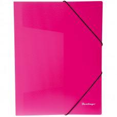 """Папка на резинке  А4, 500 мкм, неоновая розовая Berlingo """"Neon"""""""